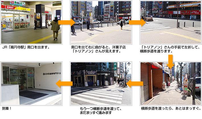「高円寺駅」からのアクセスルート図